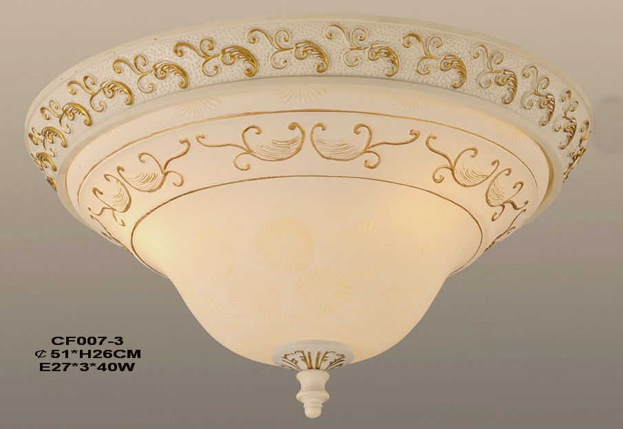 Craft Effect Resin Glass Ceiling Flush Mount