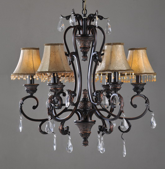 Outlet Elegant 6-Light Tavern Copper Venetian Chandeliers