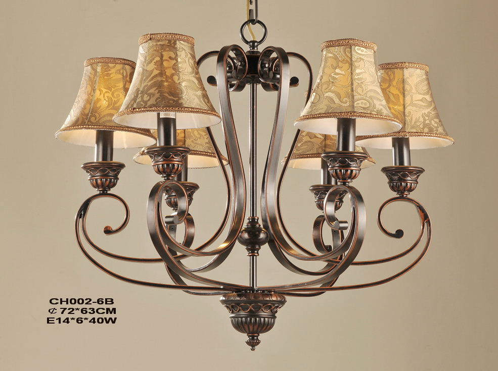 Outlet 6-Light Rust Iron Nursery Chandeliers at Discount Prices