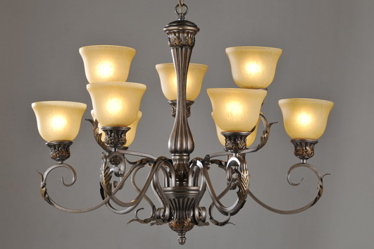 9-Light Rust Iron Antique Chandeliers at Cheap Prices