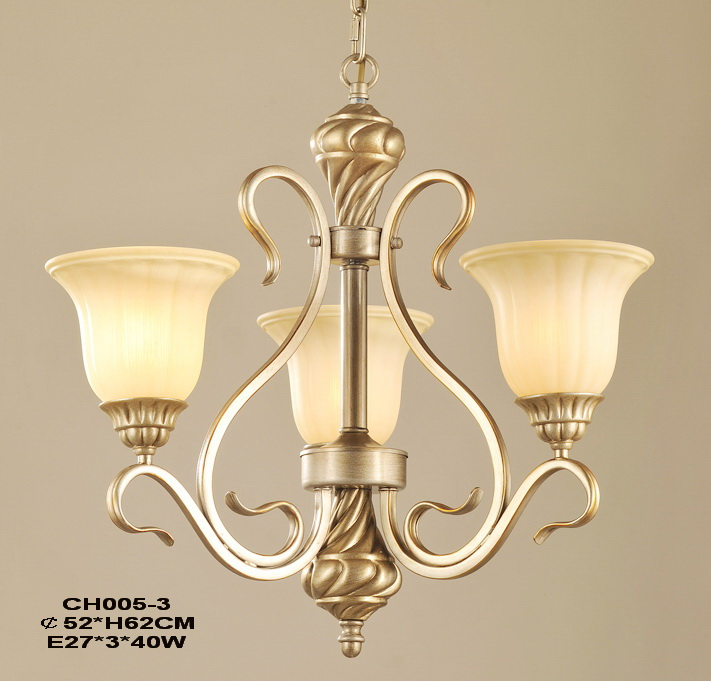 Elegant 3-Light Gold Nuersery Chandeliers