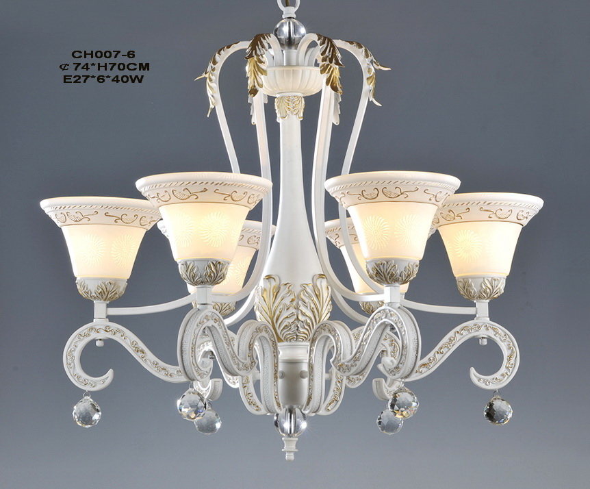 Elegant 3-Light White Girls Room Chandeliers