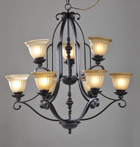 9-Light Black Bedroom Chandeliers at Cheap Prices