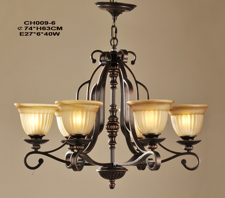 Portfolio 6-Light Copper Antique Chandeliers