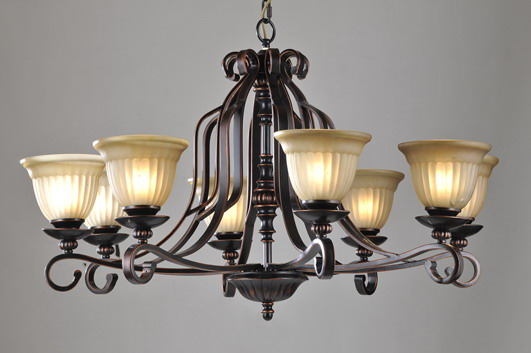 Outlet 8-Light Copper Metal Chandeliers
