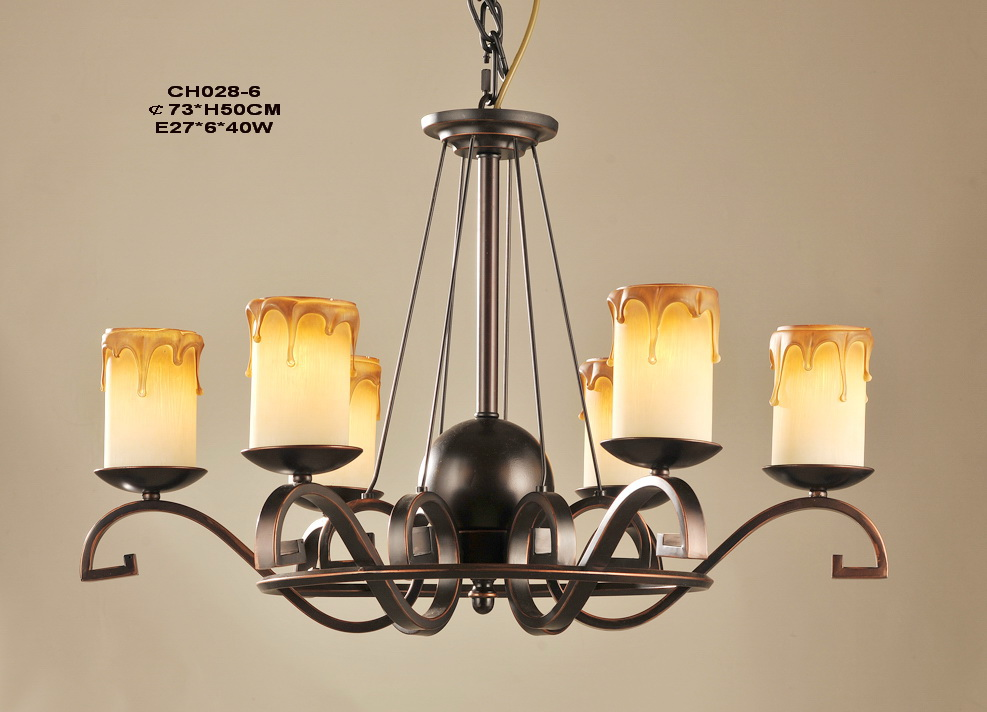 Outlet 6-Light Faux Candle Antique Chandeliers at Discount Prices