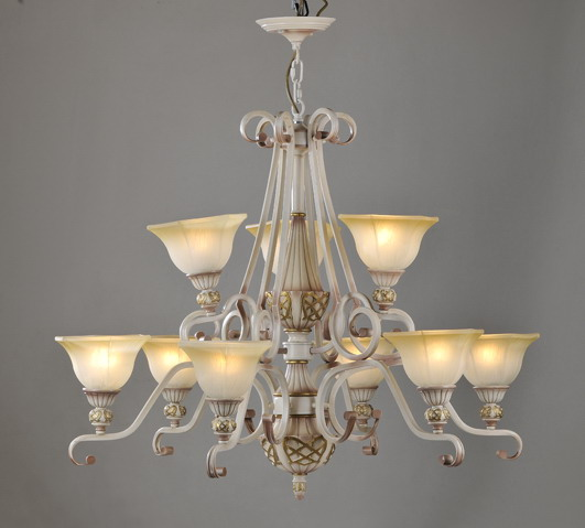 Outlet Portfolio 9-Light Rust Metal European Chandeliers