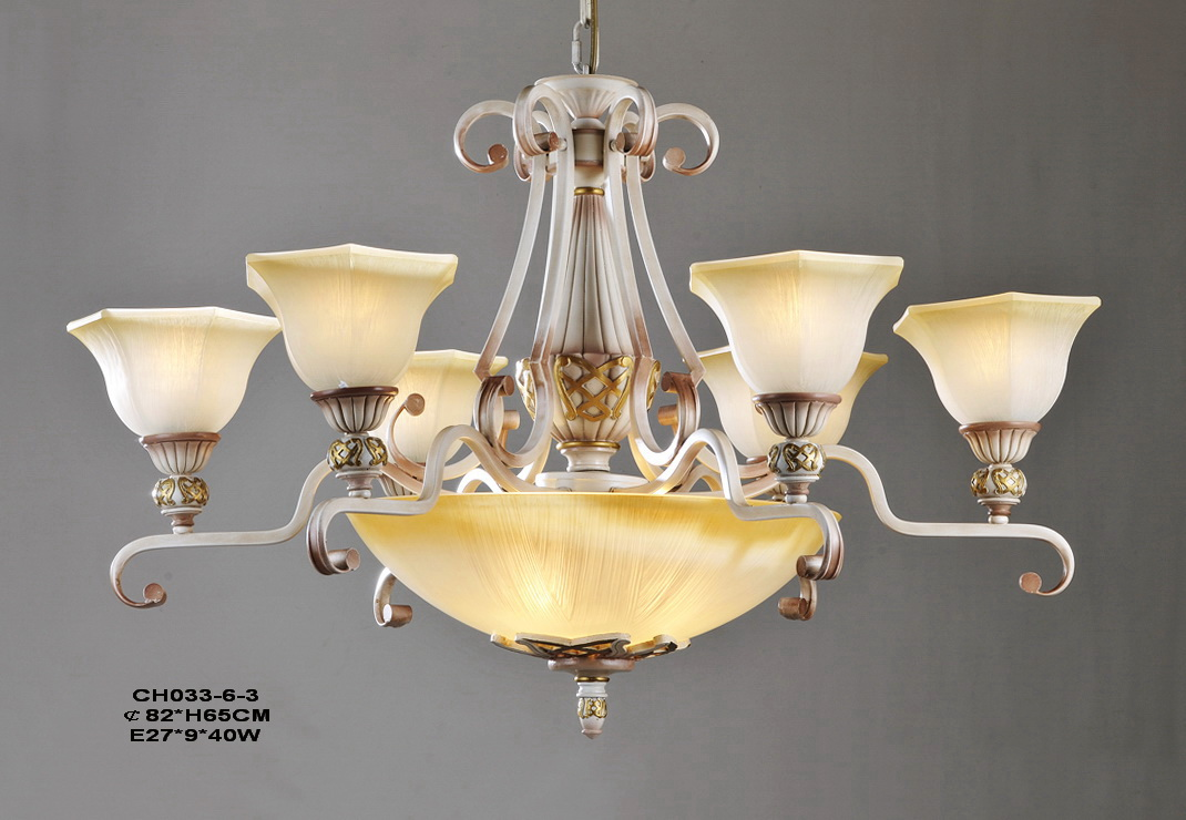 Portfolia 9-Light Rust Antique Chandeliers