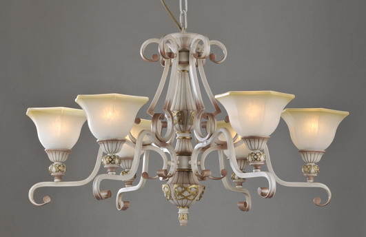 Portfolio 6-Light Rust Iron Antique Chandeliers