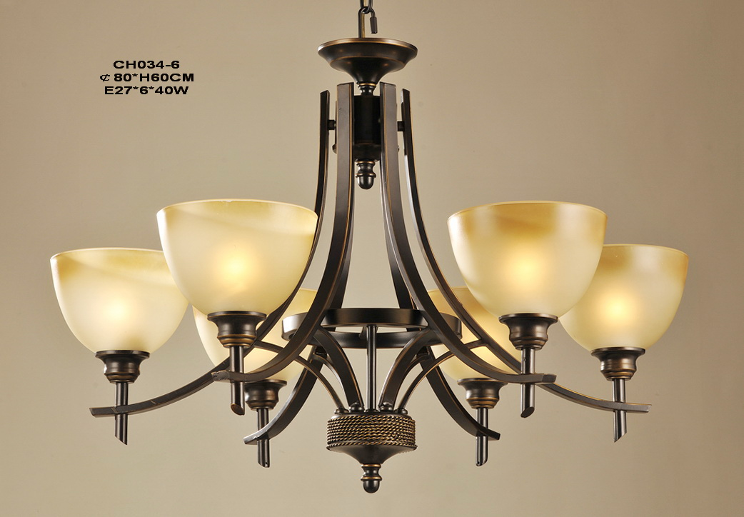 6-Light Bronze Metal Antique Chandeliers at Low Prices