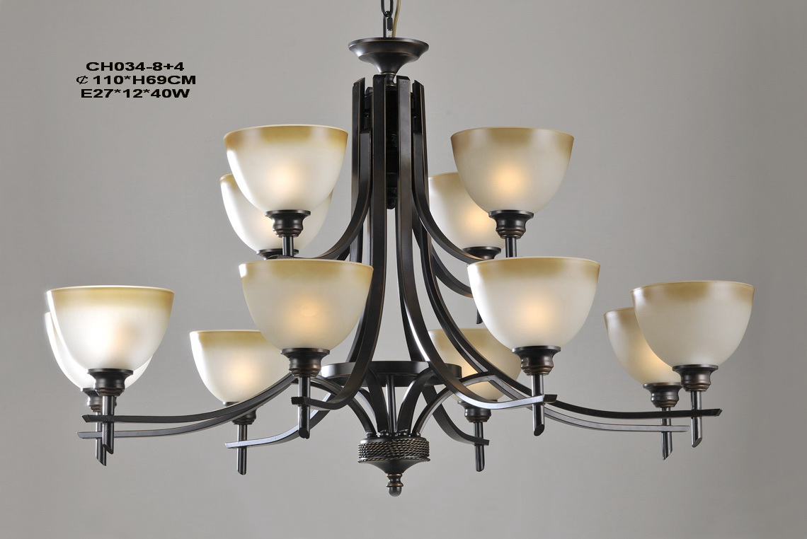 12-Light Black Metal Antique Designer Chandeliers