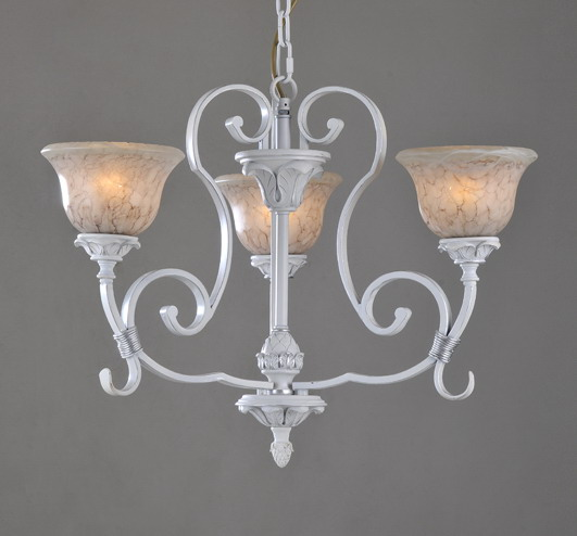 Perfect 3-Light White Modern Chandeliers - Click Image to Close