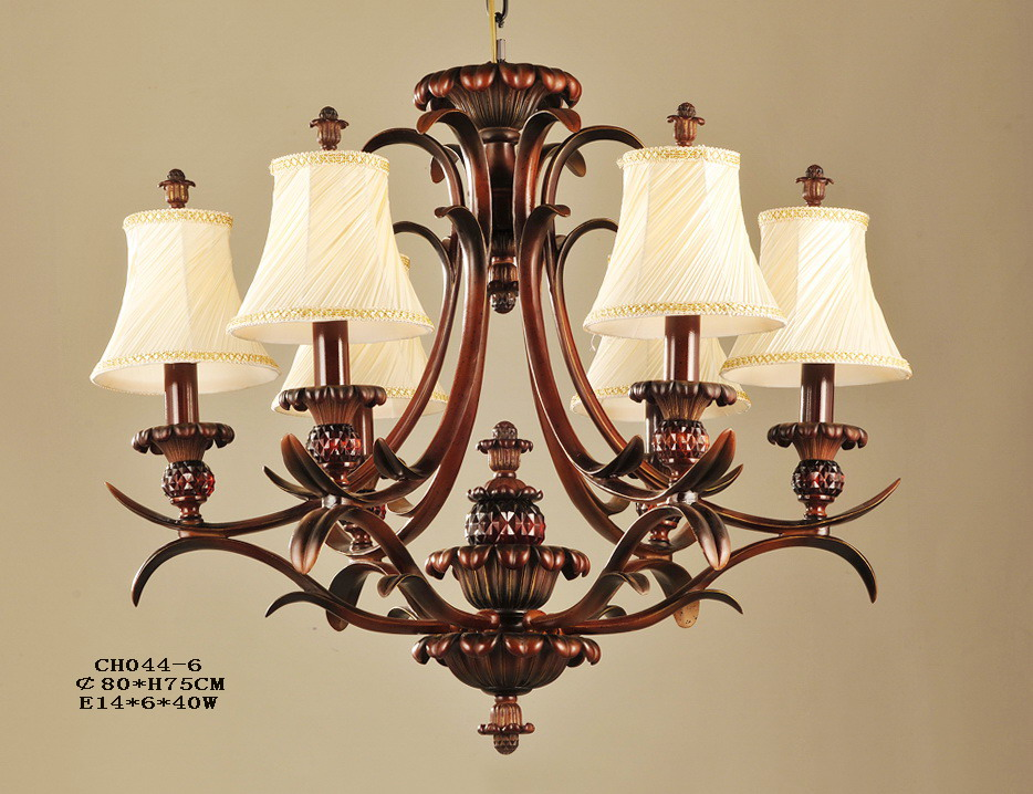 Outlet 6-Light Cloth Art Cover Antique Chandeliers
