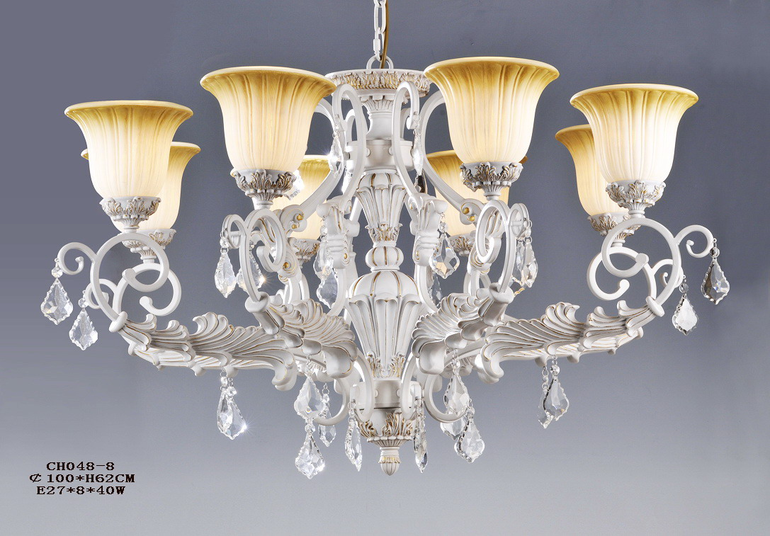 Classical 9-Light Antique Brass Chandeliers