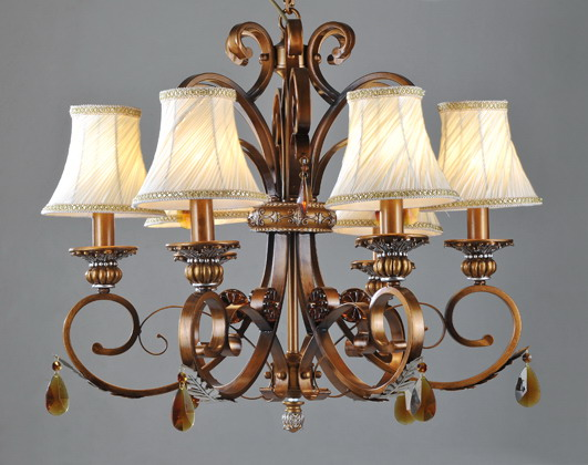 Luxurious 21-Light Brass Chandeliers with Clear Crystals