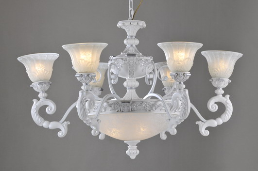 Perfect 9-Light White with Silver Traditional Chandeliers