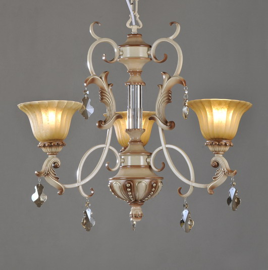 Outlet High Qualith 3-Light Rust Metal Chandeliers with K9 Crystal Pendant
