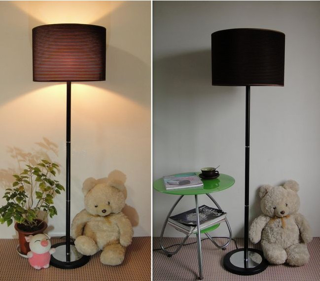 Modern Black Adjustable Floor Lamp with White/Black Basis