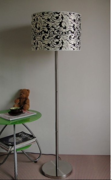 Vintage White and Coffee Floria Adjustable Floor Lamp