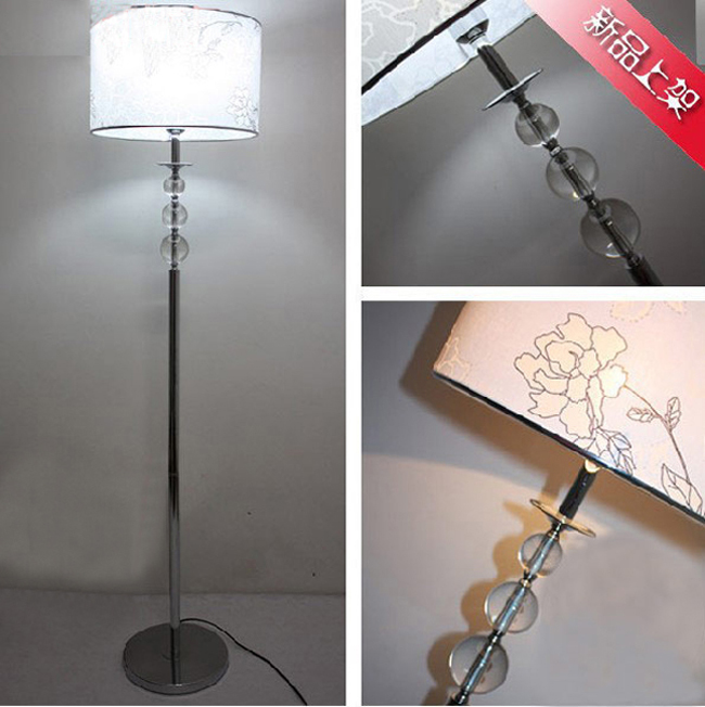 Outlet Antique Pastel Color Printing Clear Glass Floor Lamp