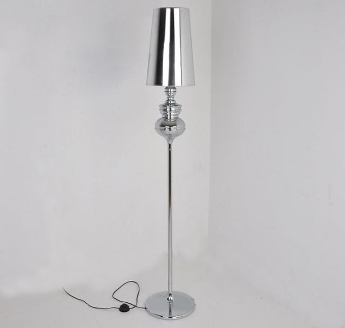 Fashionable Steel Floor Lamp, Silver Floor Lamps