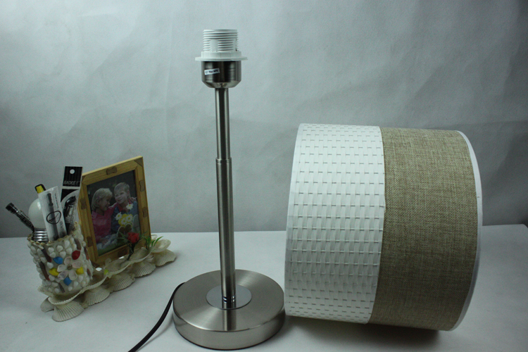 Idyllic Ivory Adjustable Floor Lamp with Chrome Basis