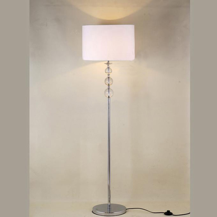 Modern White Transparent Crystal Balls Floor Lamp