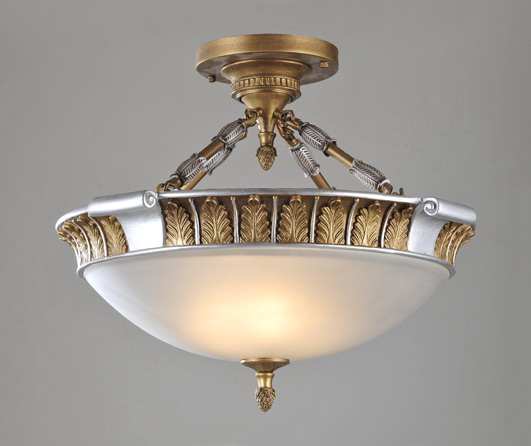 Imperial 4-Light Gold with Silver Metal Chandeliers