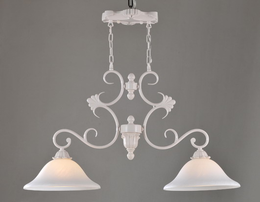 Outlet 2-Light White Modern Kitchen Chandeliers at Cheap Prices