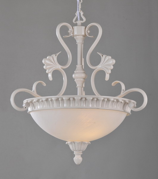 Exquisite 2-Light White Metal Modern Chandeliers