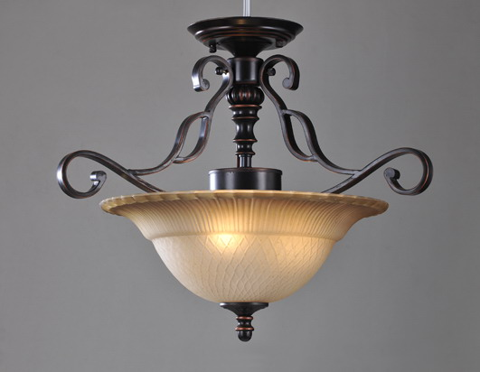 Outlet 3-Light Antique Coppper Metal Kicthen Chandeliers