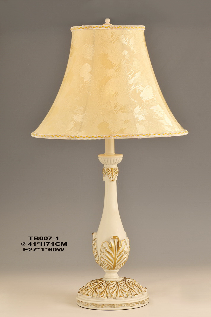 Exquisite Ivory with Gold Modern European Table Lamps