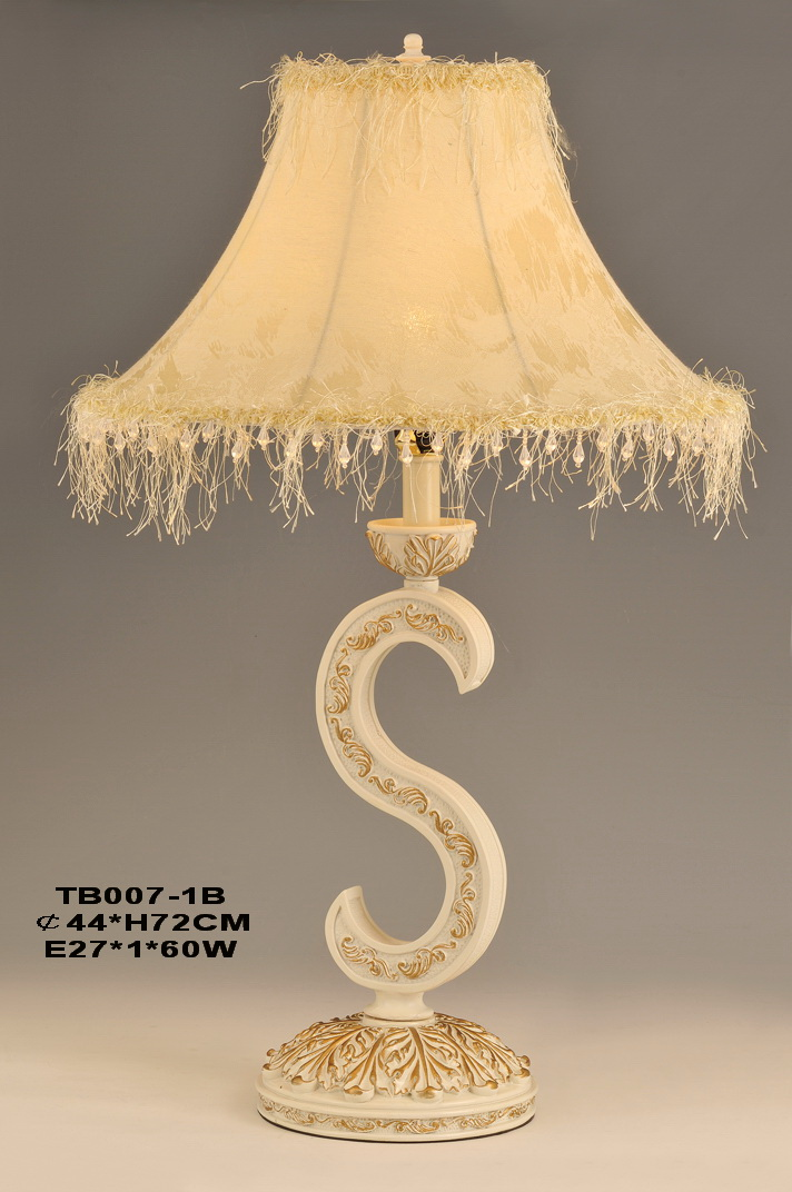 Ivory with Gold European Table Lamps