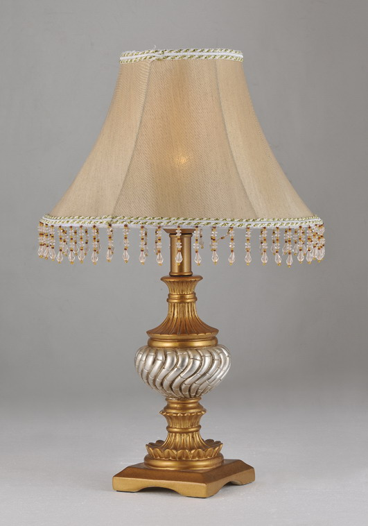 Cloth Art Cover Gold and Silver Body Imperial Table Lamps