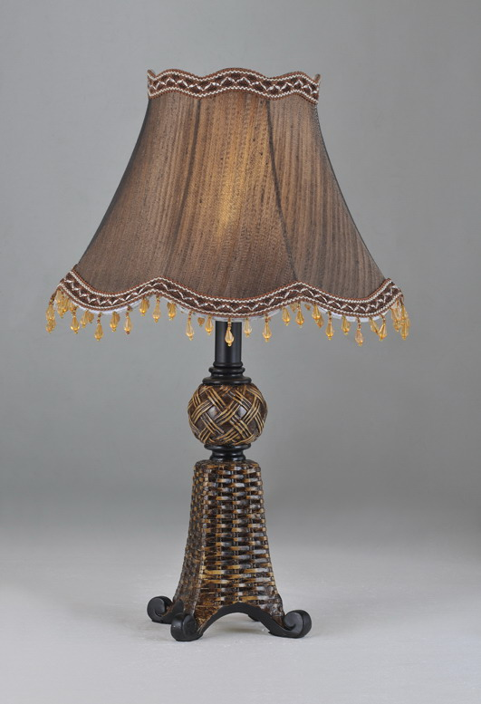 Bronze Cloth Art Cover Metal Body Modern Table Lamps