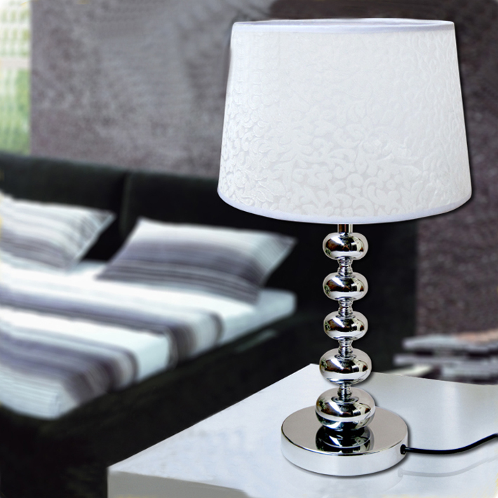 Outlet Pvc Film White Printed Bedside Table Lamps At
