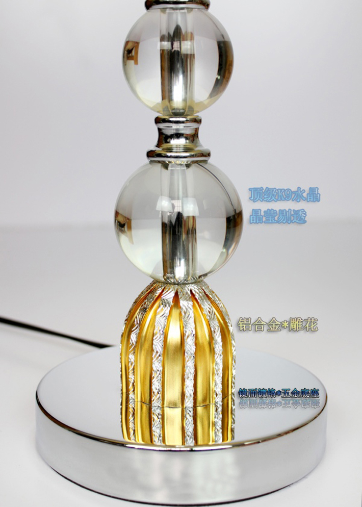 Modern Table Lamps with Crystal balls and Aluminum Alloy