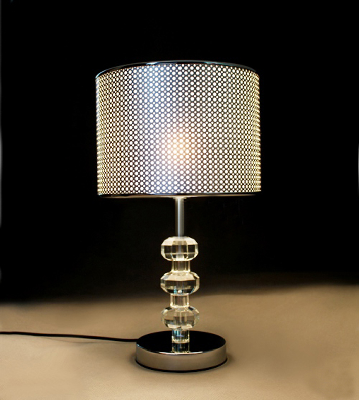 Wholesale Modern White Art Printed Clear Crystal Table Lamps