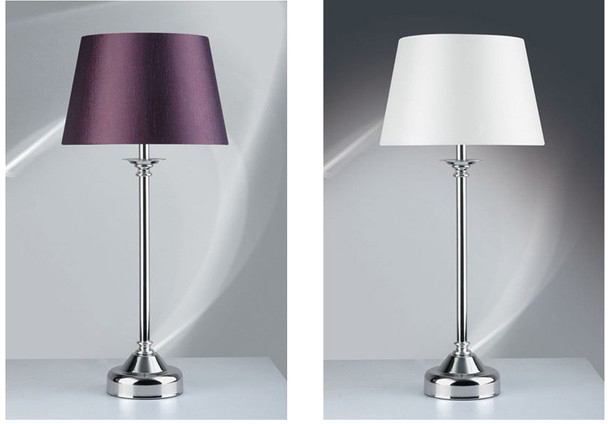 Solid Color Modern Table Lamp Chrome