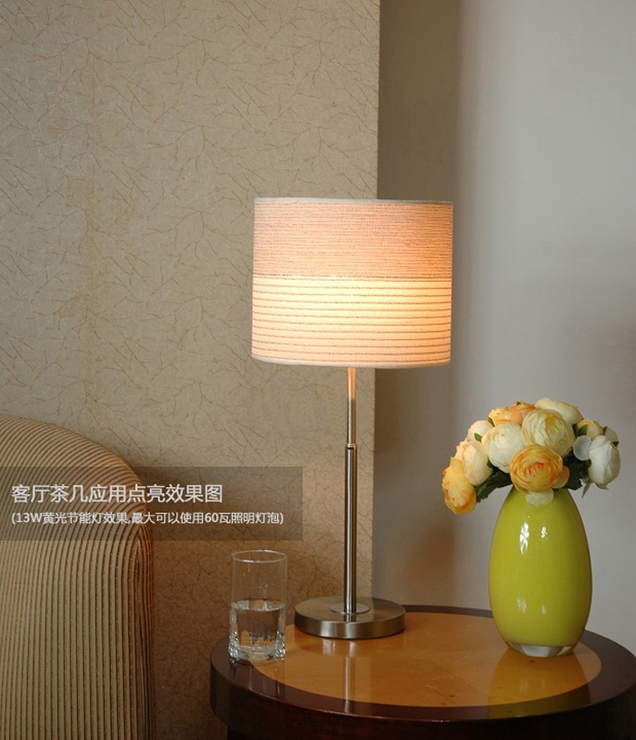 Light Gray Adjustable Table Lamp Chrome Base of Idyllic Style