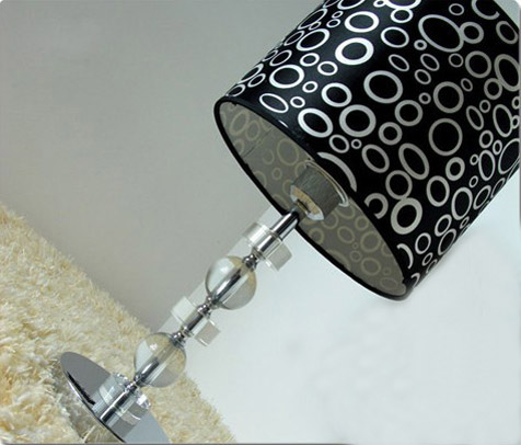 Outlet Black Cloth Art K9 Crystal Bedside Table Lamps