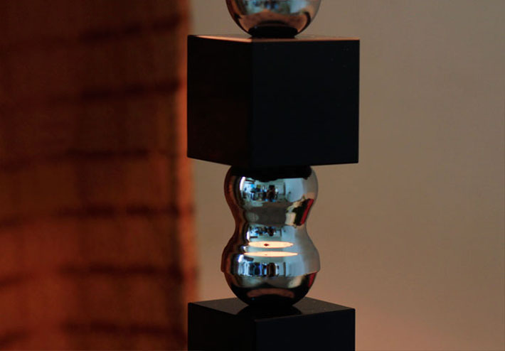 Flame-Retarding PVC K9 Crystal Chrome Table Lamp