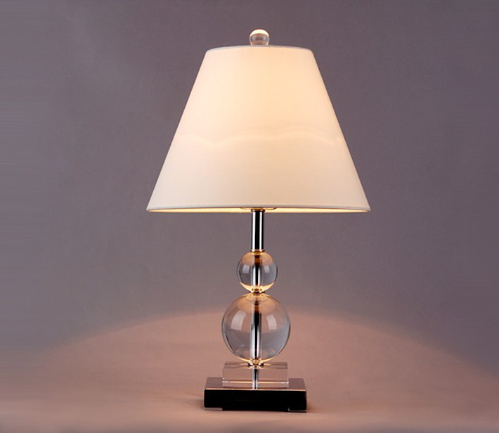 Outlet High Quality White Table Lamps with Cyan Crystal Balls