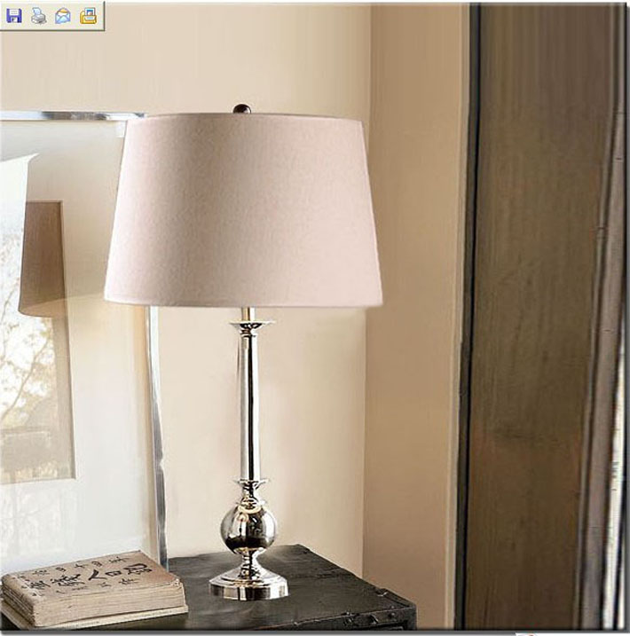 White Cloth Art Table Lamp, Polystyrene Plastic Table Lamp