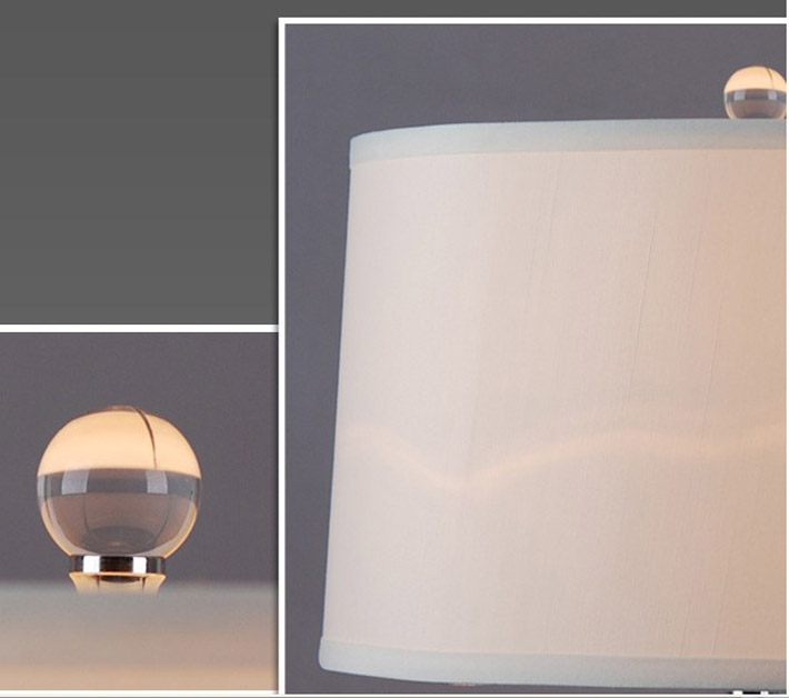 Outlet Liner Cotton Plating Modern Bedside Table Lamps at Discount Prices