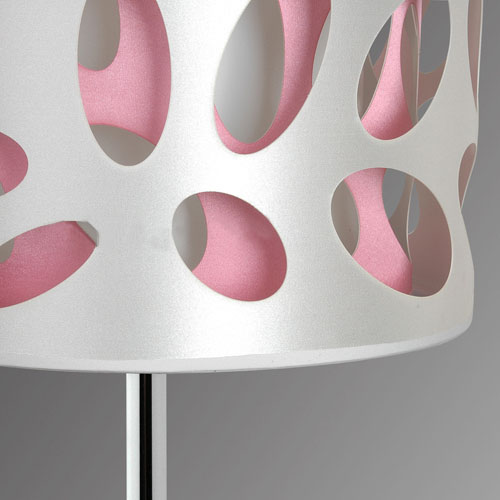 Etched PVC 3-Layer Modern Table Lamp Chrome, Study Table Lamps