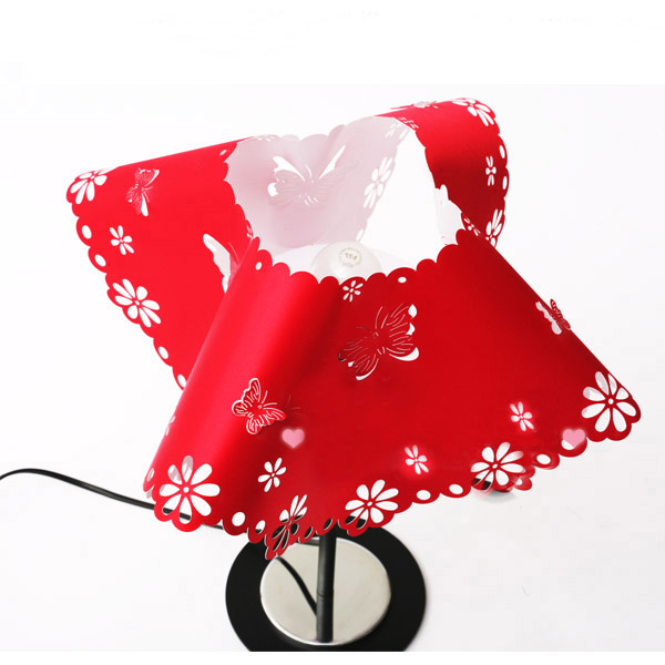 Red Plastic PP Alloy Table Lamp with Lurding Discount