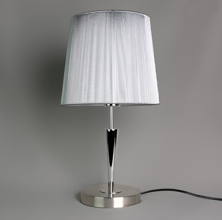 Silver Wire Drawing Chrome Table Lamp with Luring Discounts