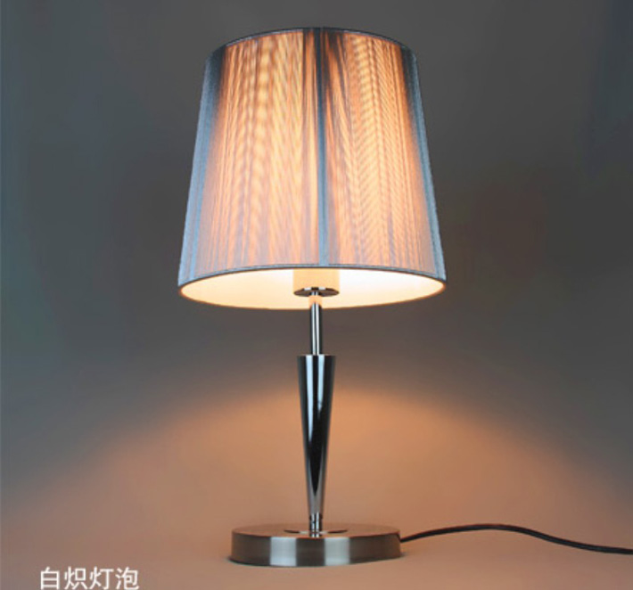 Silver Wire Drawing Chrome Table Lamp with Luring Discounts - Click Image to Close