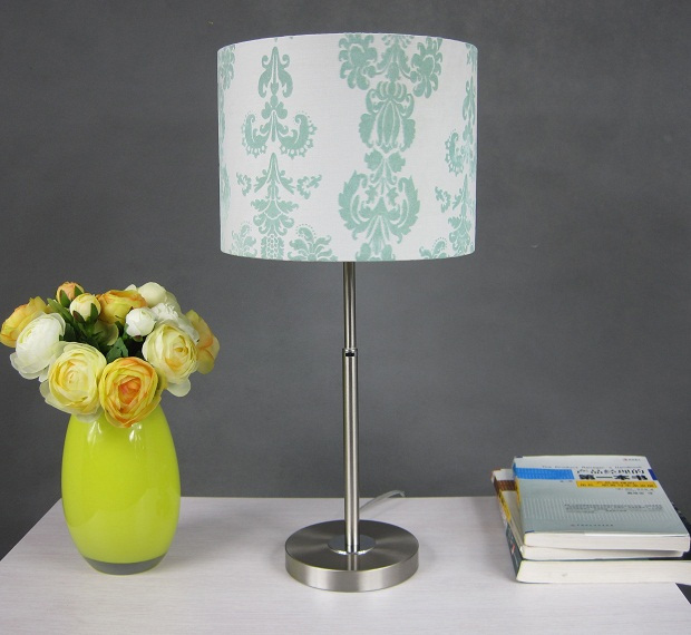 Fresh Green Floria Printed Adjustable Table Lamp
